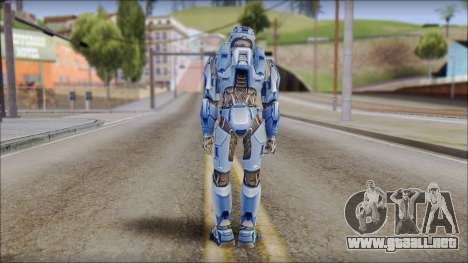 Masterchief Blue from Halo para GTA San Andreas tercera pantalla