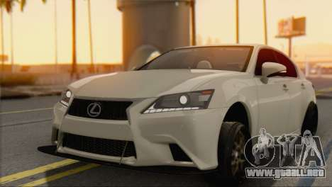 Lexus GS350 para GTA San Andreas left