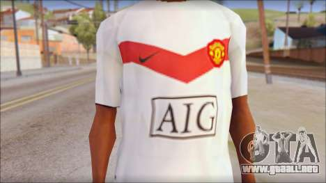 Manchester United Shirt para GTA San Andreas tercera pantalla