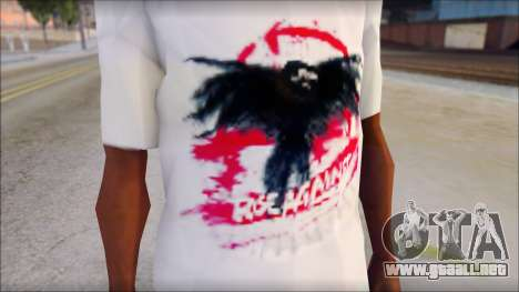 Rise Against T-Shirt V2.1 para GTA San Andreas tercera pantalla