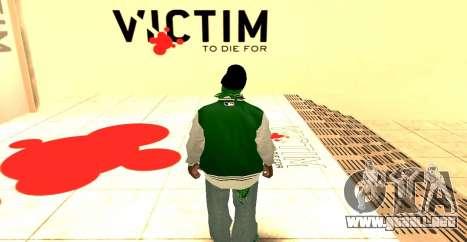 Grove Street Gang Skin pack para GTA San Andreas segunda pantalla