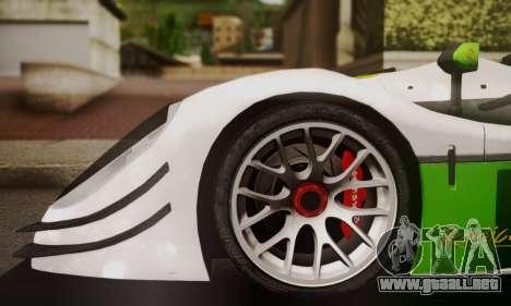 Radical SR8 Supersport 2010 para GTA San Andreas vista posterior izquierda
