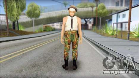 Teniente Armstrong para GTA San Andreas segunda pantalla