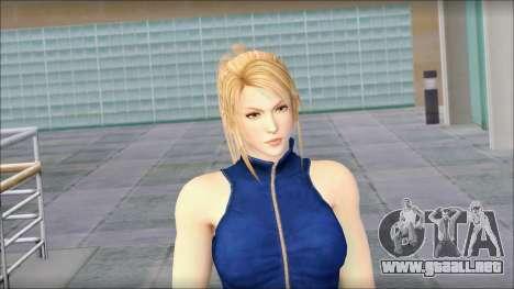 Sarah from Dead or Alive 5 v2 para GTA San Andreas tercera pantalla