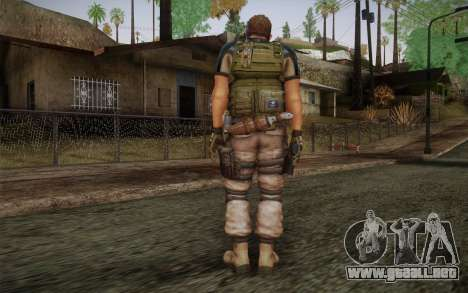 Chris Redfield from Resident Evil 6 para GTA San Andreas segunda pantalla