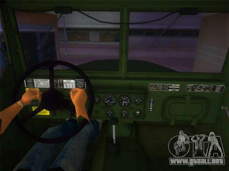 AM General M35A2 1986 para GTA Vice City vista lateral izquierdo