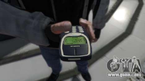 NOKIA 3310 para GTA 4 segundos de pantalla