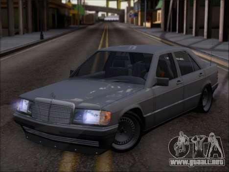 Mercedes Benz 190E Drift V8 para visión interna GTA San Andreas