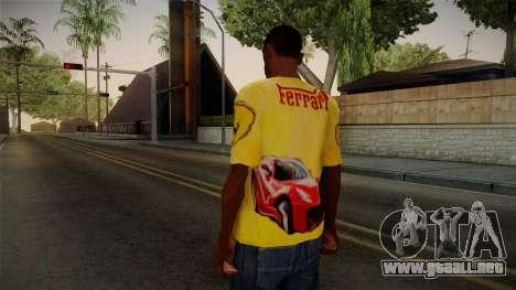 Ferrari T-Shirt para GTA San Andreas segunda pantalla