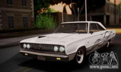 Dodge Coronet 440 Hardtop Coupe (WH23) 1967 para vista inferior GTA San Andreas