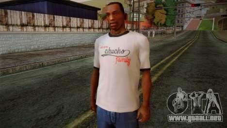 Chucks Anon Family T-Shirt para GTA San Andreas