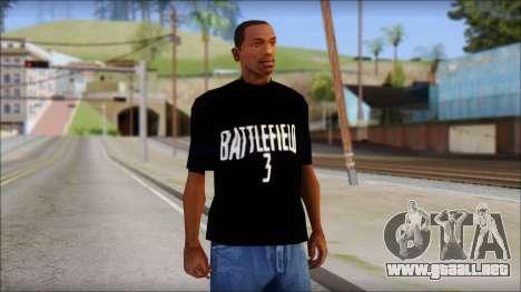 Battlefield 3 Fan Shirt para GTA San Andreas