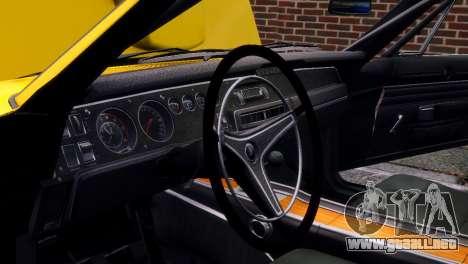 Dodge Charger RT 1969 EPM para GTA 4 vista desde abajo