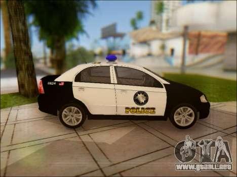 Chevrolet Aveo Police para visión interna GTA San Andreas