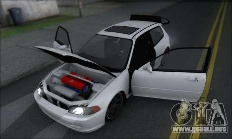 Honda Civic 1995 para vista lateral GTA San Andreas