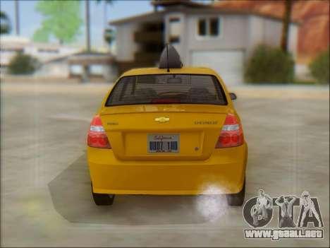 Chevrolet Aveo Taxi para visión interna GTA San Andreas