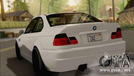BMW M3 E46 Black Edition para GTA San Andreas left