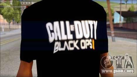 COD Black Ops 2 Fan T-Shirt para GTA San Andreas tercera pantalla