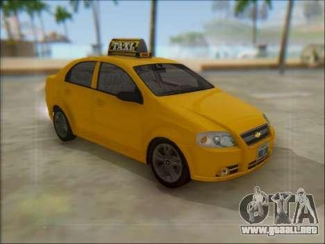Chevrolet Aveo Taxi para GTA San Andreas left