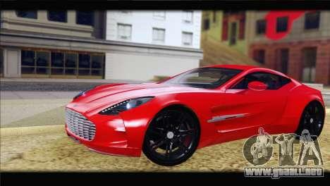Aston Martin One-77 2010 para GTA San Andreas left