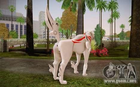 Amaterasu Okami para GTA San Andreas segunda pantalla