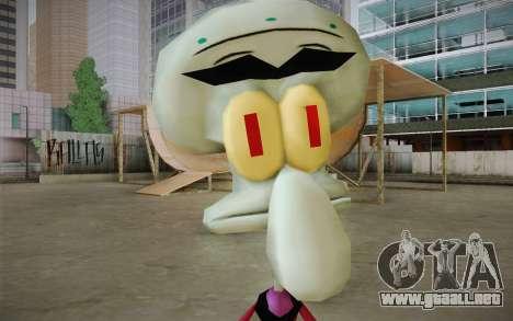 Squilliam from Sponge Bob para GTA San Andreas tercera pantalla