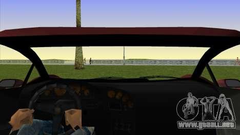Zentorno from GTA 5 v2 para GTA Vice City vista lateral izquierdo