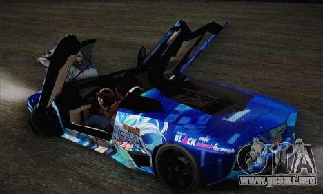 Lamborghini Reventon Black Heart Edition para la vista superior GTA San Andreas