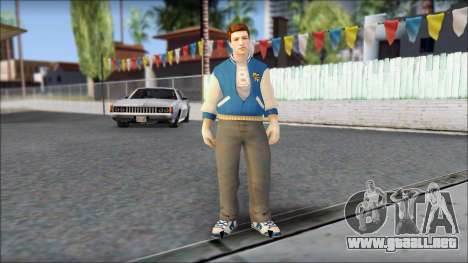 Ted from Bully Scholarship Edition para GTA San Andreas segunda pantalla