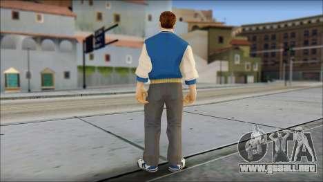 Ted from Bully Scholarship Edition para GTA San Andreas tercera pantalla