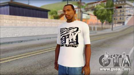 MTV T-Shirt para GTA San Andreas