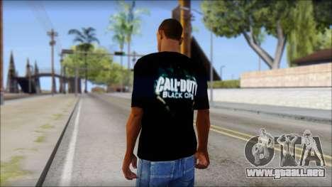Black Ops T-Shirt para GTA San Andreas segunda pantalla