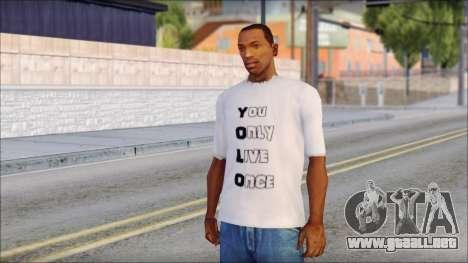 YOLO T-Shirt para GTA San Andreas