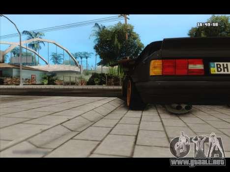 BMW e30 UDC para GTA San Andreas vista hacia atrás