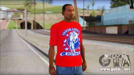 John Cena Red Attire T-Shirt para GTA San Andreas