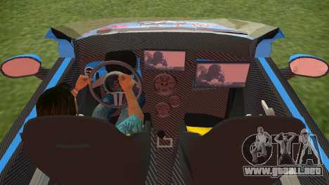 Fiat 500 ZTuning para GTA Vice City vista lateral izquierdo