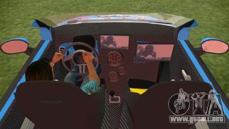 Fiat 500 ZTuning para GTA Vice City vista lateral izquierdo