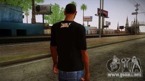 Black Sabbath T-Shirt para GTA San Andreas segunda pantalla