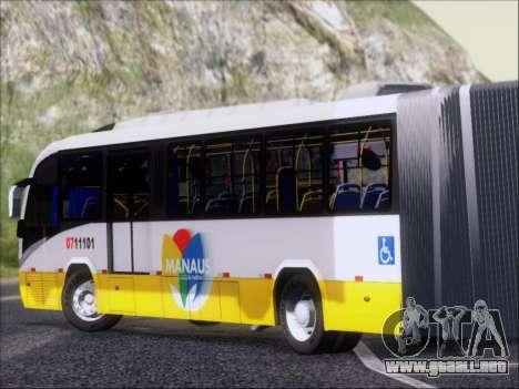 Neobus Mega BRT Volvo B12M-340M para GTA San Andreas vista posterior izquierda