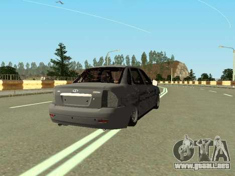 VAZ 2170 para GTA San Andreas vista posterior izquierda