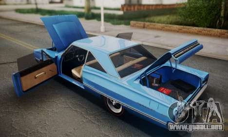 Dodge Coronet 440 Hardtop Coupe (WH23) 1967 para vista lateral GTA San Andreas