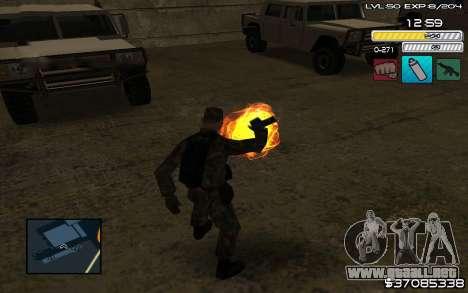 C-HUD by SampHack v.9 para GTA San Andreas tercera pantalla