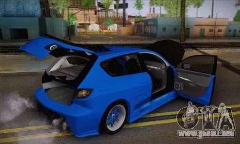 Mazda Speed 3 Tuning para GTA San Andreas vista hacia atrás