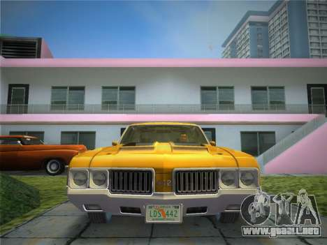 Oldsmobile 442 1970 para GTA Vice City vista posterior
