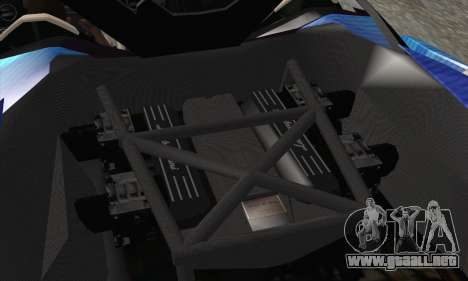 Lamborghini Reventon Black Heart Edition para vista inferior GTA San Andreas