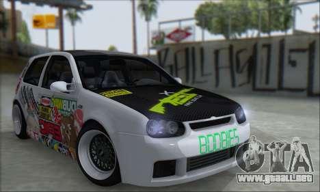 Volkswagen Golf MK4 R32 para visión interna GTA San Andreas