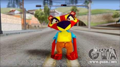 Chang the Firefox from Fur Fighters Playable para GTA San Andreas segunda pantalla