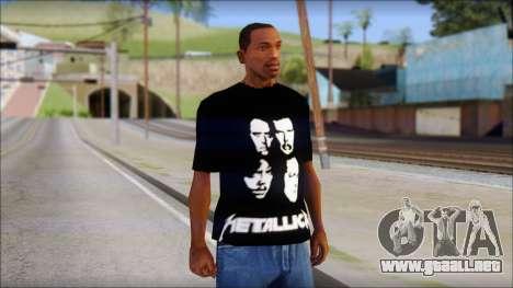 Metallica T-Shirt para GTA San Andreas