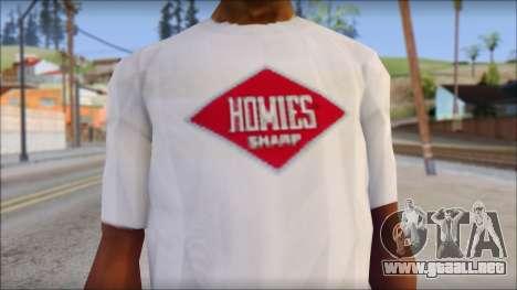 CM Punk T-Shirt para GTA San Andreas tercera pantalla