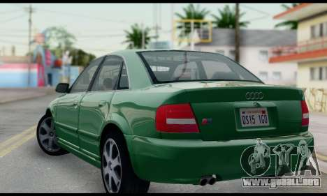Audi S4 2000 para GTA San Andreas left